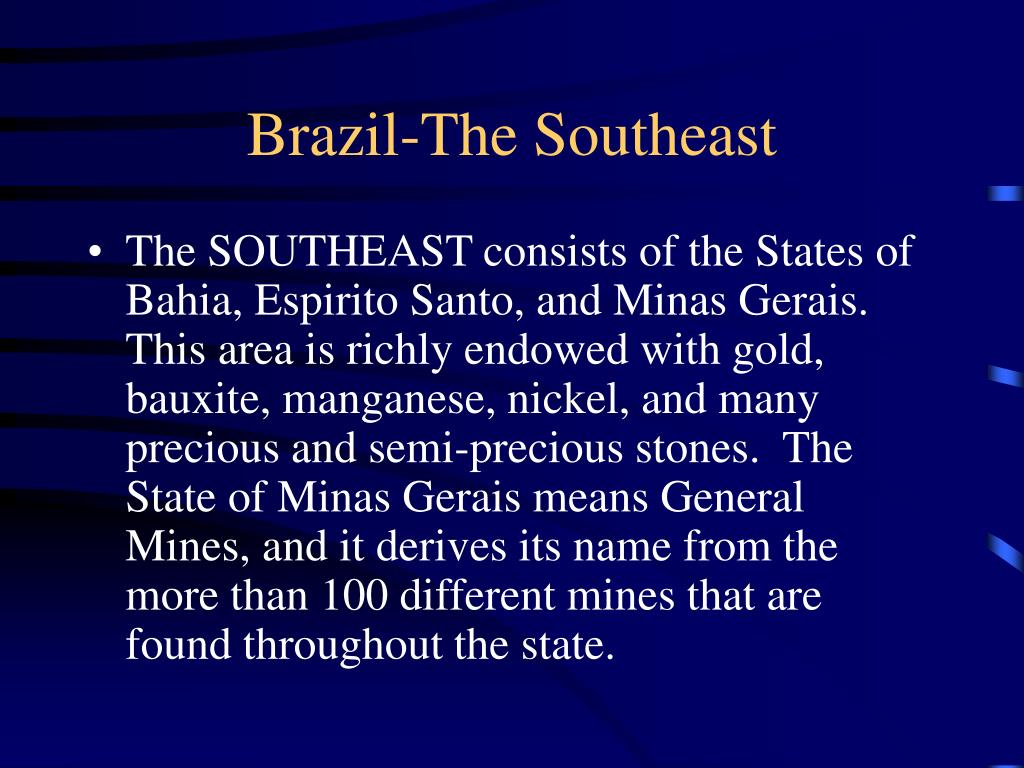 Brazil-The Southeast