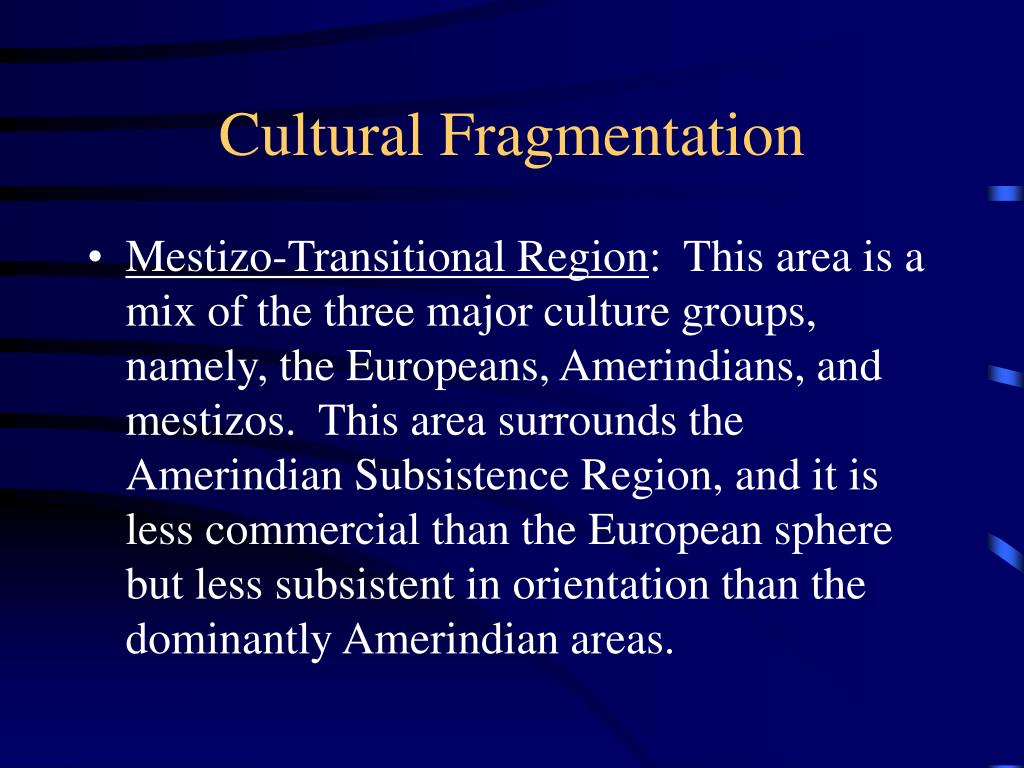 Cultural Fragmentation