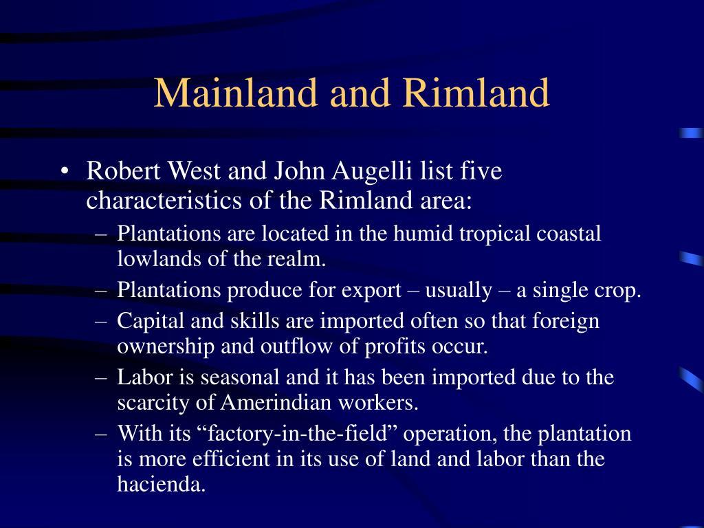 Mainland and Rimland