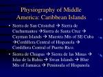 physiography of middle america caribbean islands