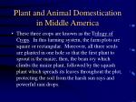 plant and animal domestication in middle america35