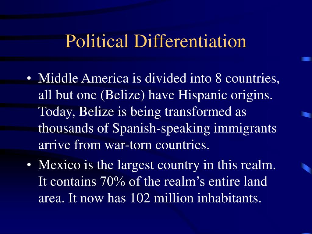 Political Differentiation