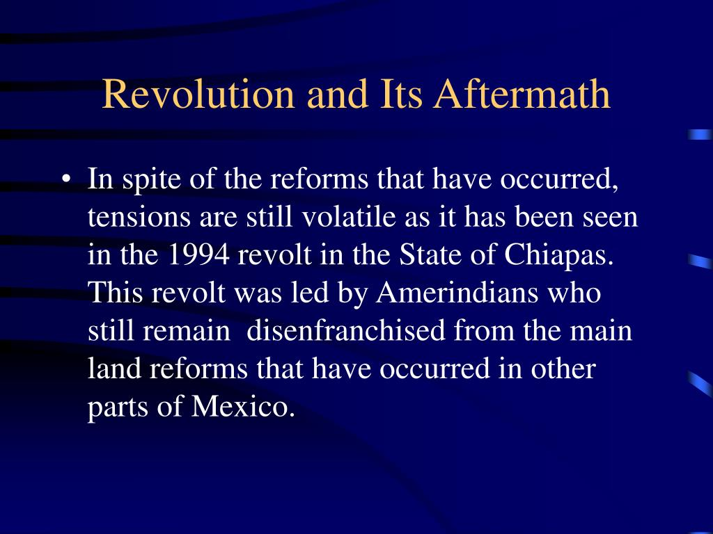 Revolution and Its Aftermath