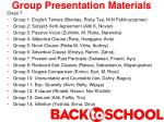 group presentation materials