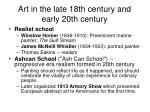 art in the late 18th century and early 20th century