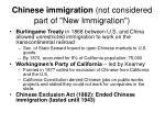 chinese immigration not considered part of new immigration