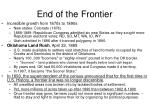 end of the frontier