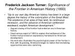 frederick jackson turner significance of the frontier in american history 1893