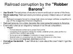 railroad corruption by the robber barons