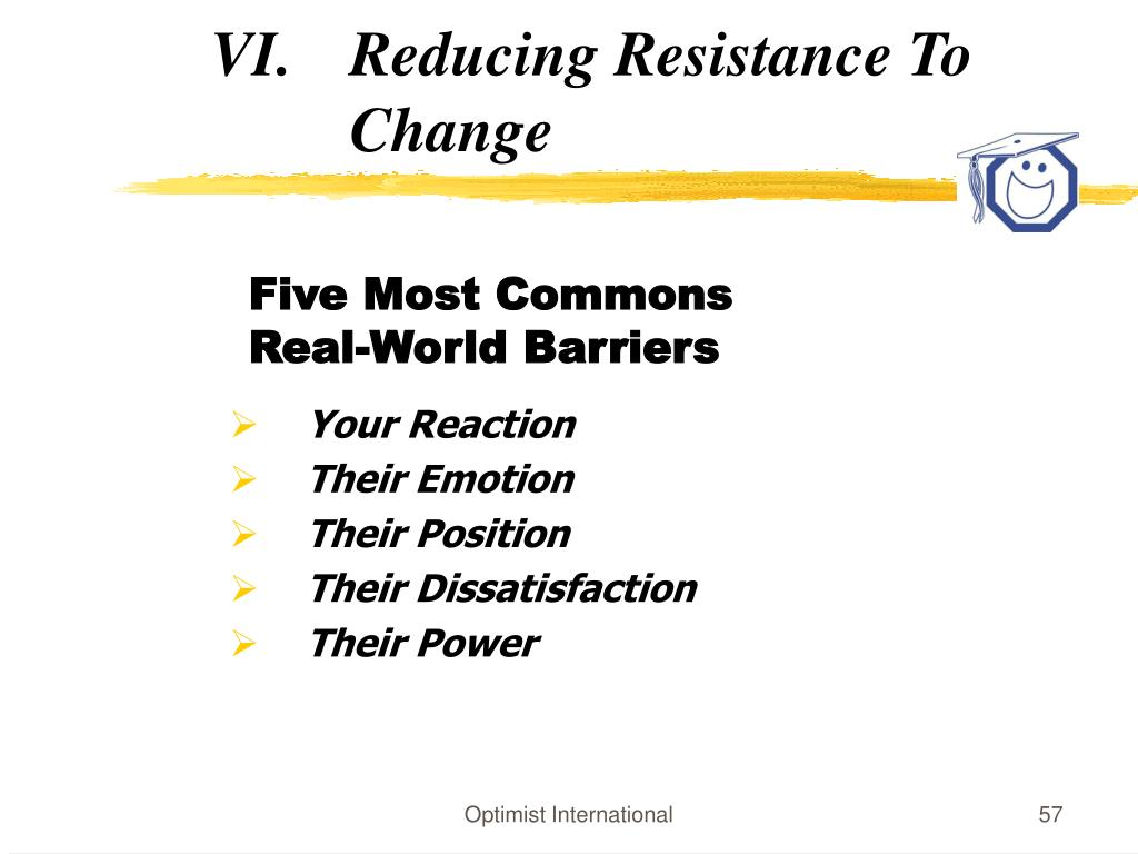 Reducing Resistance To Change