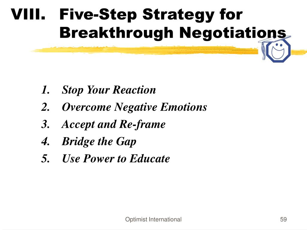 Five-Step Strategy for    Breakthrough Negotiations