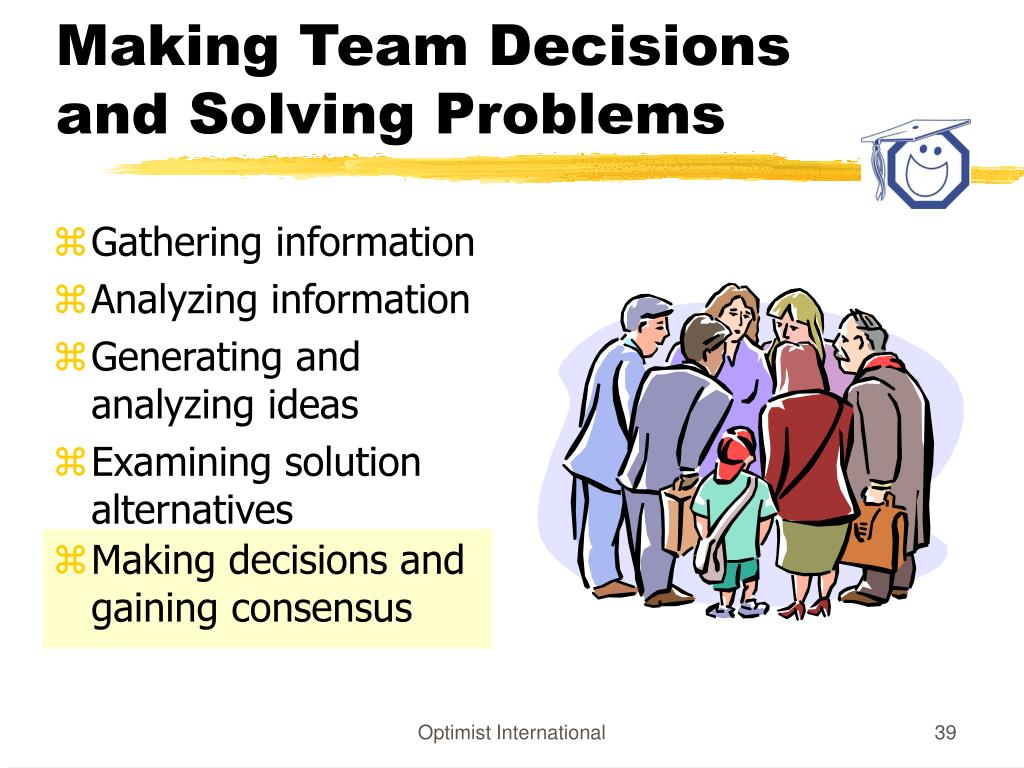 Making Team Decisions and Solving Problems