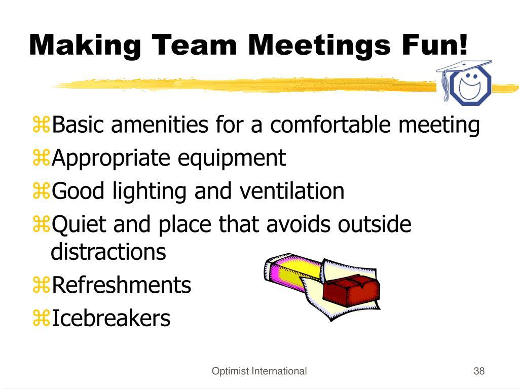 Making Team Meetings Fun!