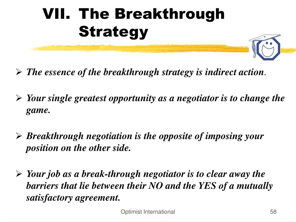The Breakthrough Strategy