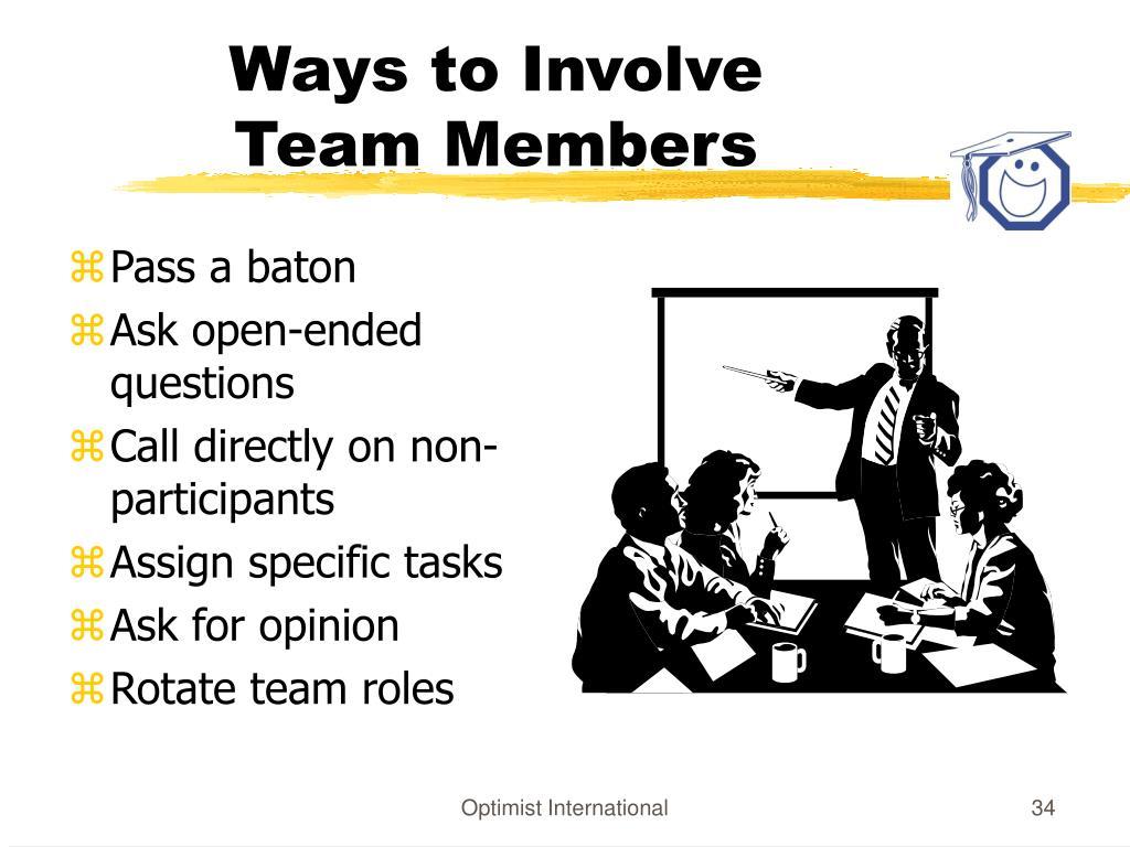 Ways to Involve
