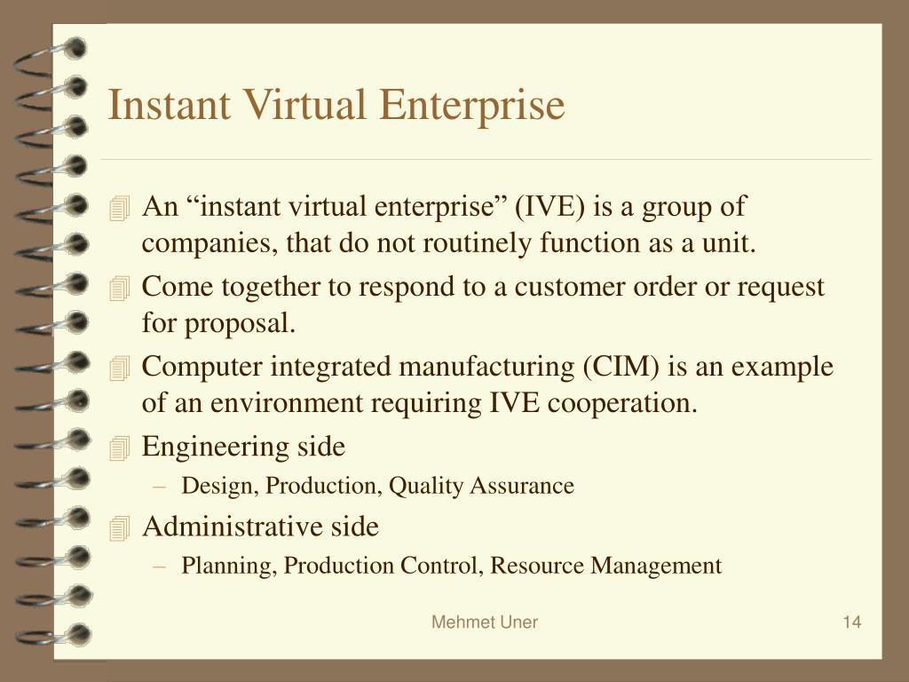 Instant Virtual Enterprise