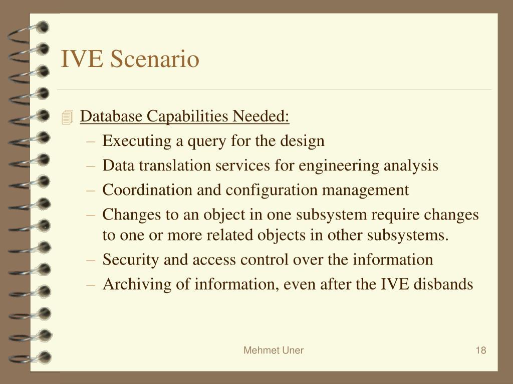 IVE Scenario