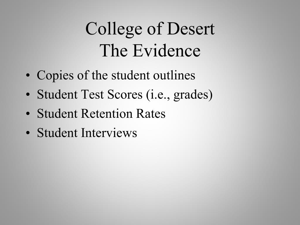 College of Desert