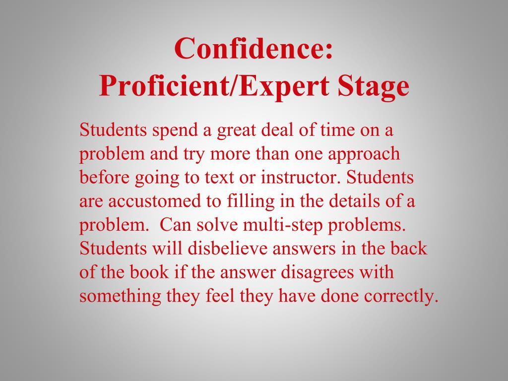 Confidence: