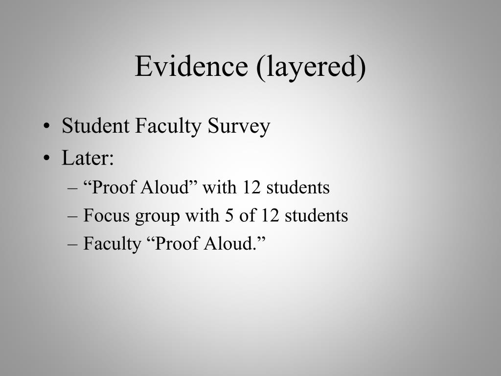 Evidence (layered)