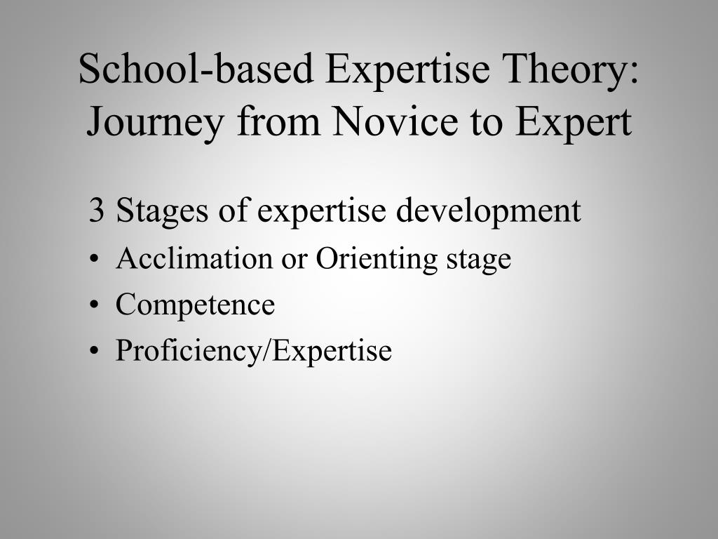 School-based Expertise Theory:
