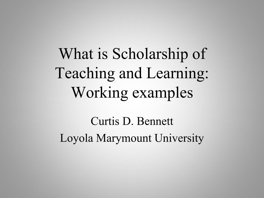 What is Scholarship of Teaching and Learning: