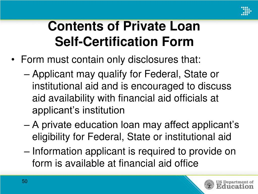 Contents of Private Loan