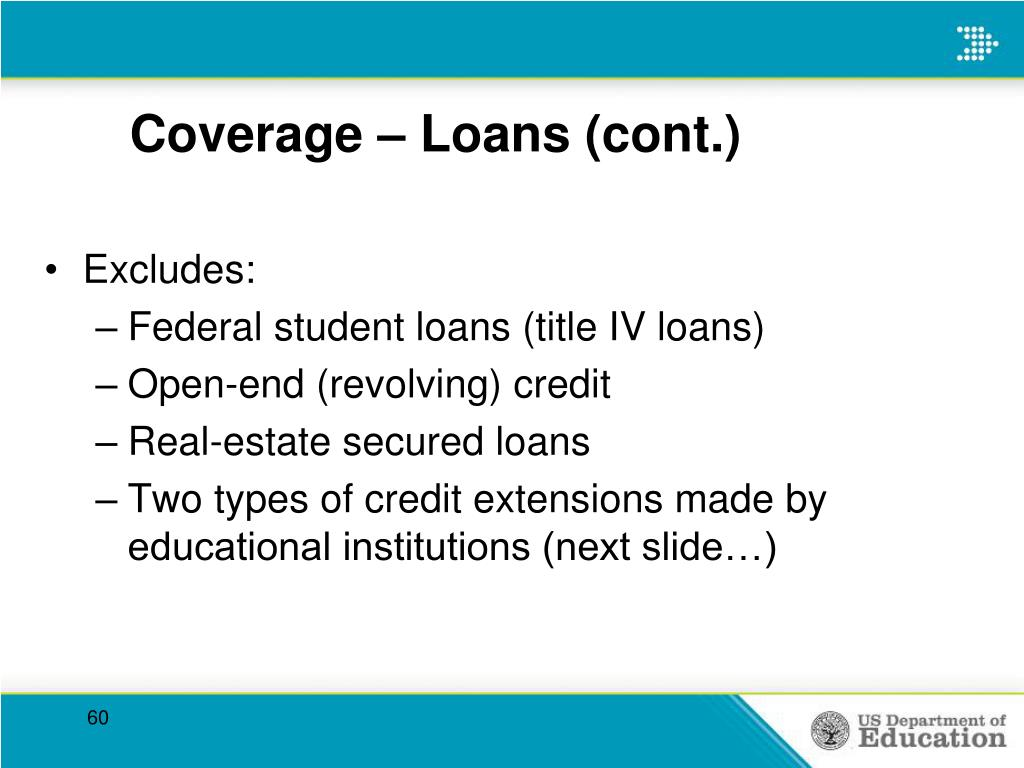 Coverage – Loans (cont.)