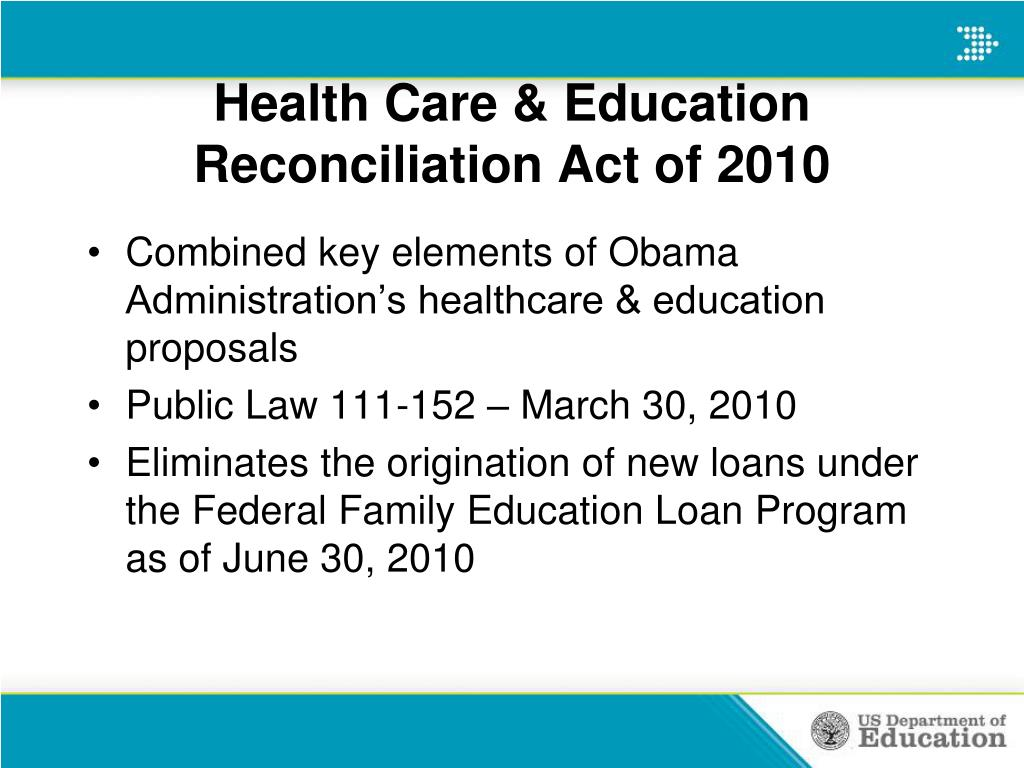 Health Care & Education Reconciliation Act of 2010