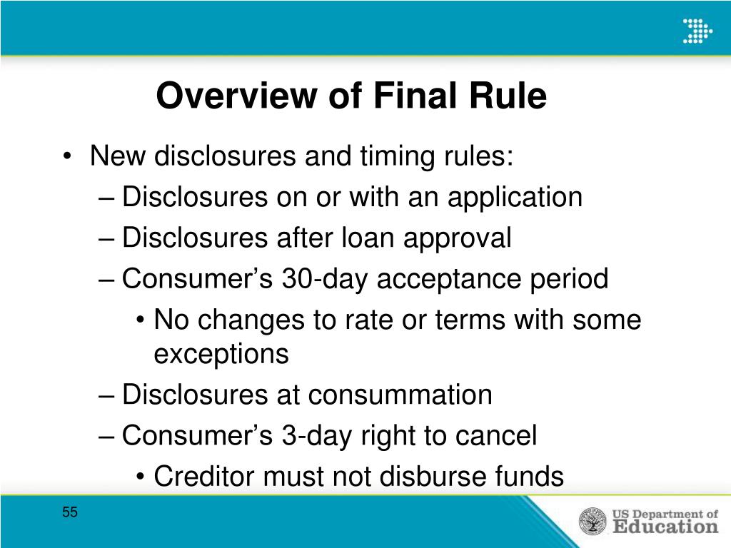 Overview of Final Rule