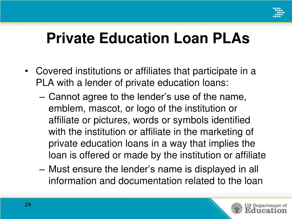 Private Education Loan PLAs