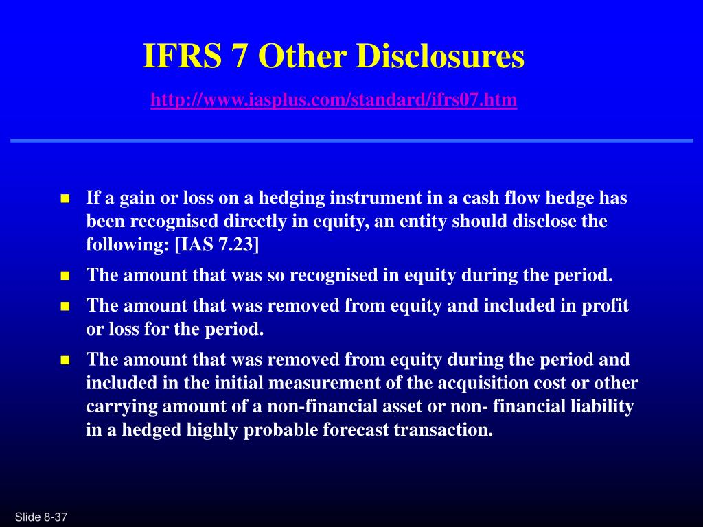 IFRS 7 Other Disclosures