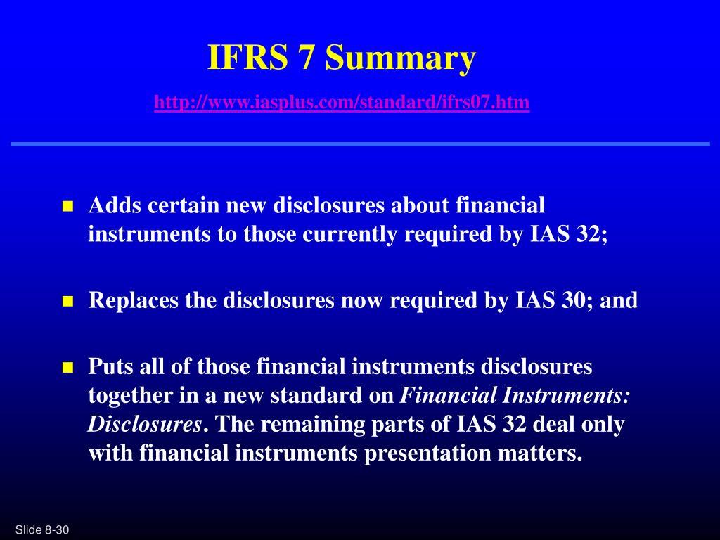 IFRS 7 Summary