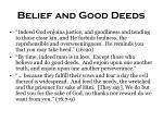 belief and good deeds