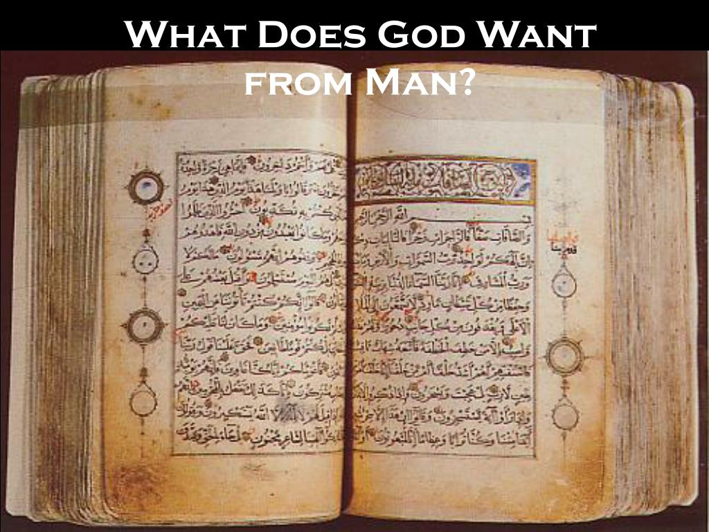 what does god want from man