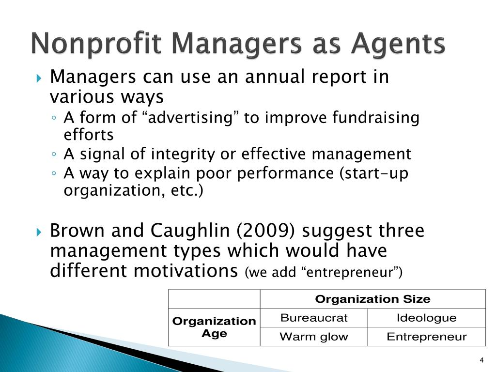 Nonprofit Managers as Agents