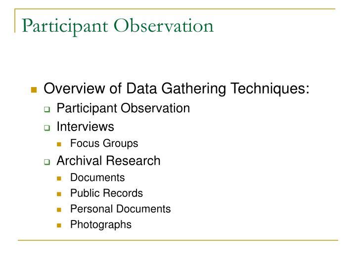 Participant observation2