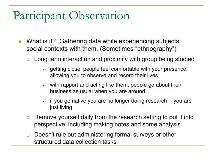 Participant observation3