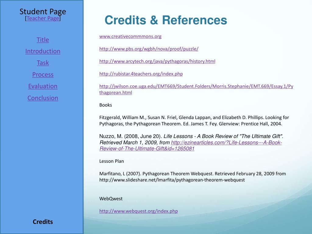 Credits & References