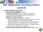 bip application scoring criteria cont d33