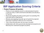 bip application scoring criteria