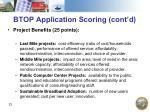btop application scoring cont d23