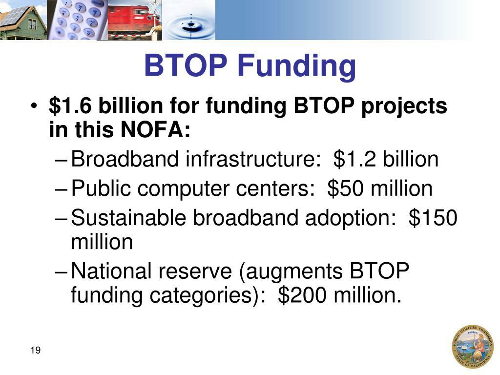 BTOP Funding
