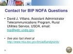 contact for bip nofa questions