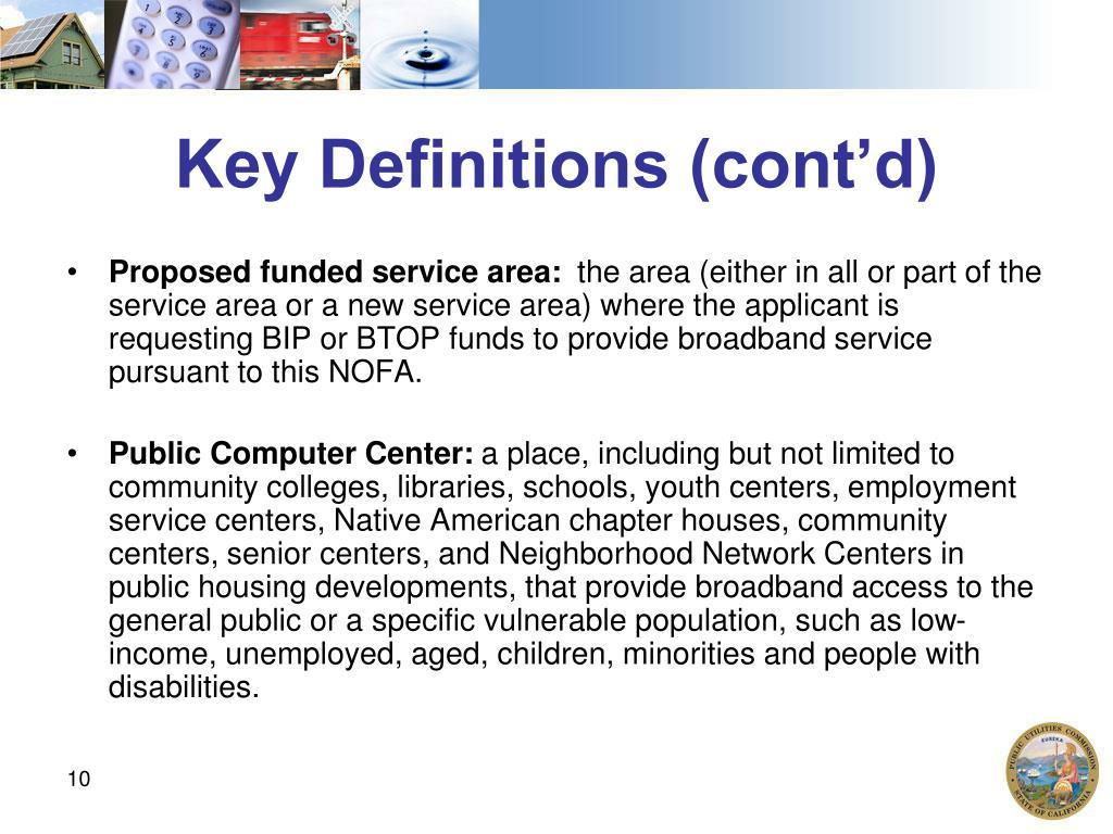Key Definitions (cont'd)