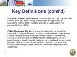 key definitions cont d
