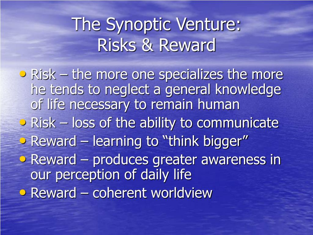 The Synoptic Venture: