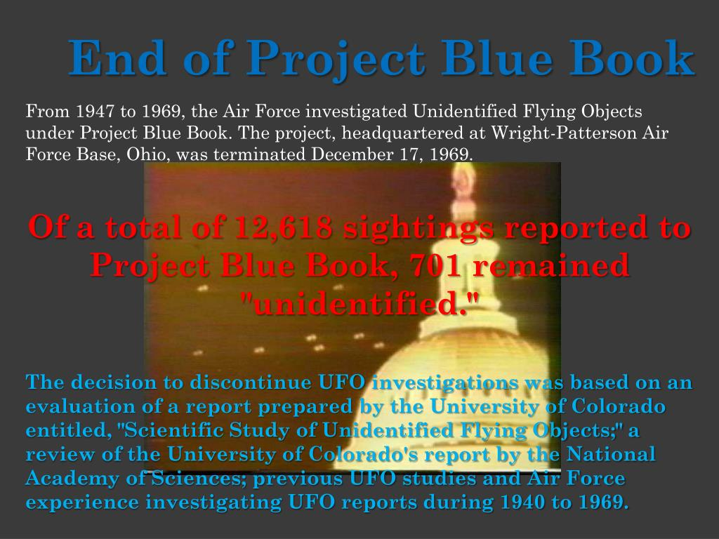 End of Project Blue Book