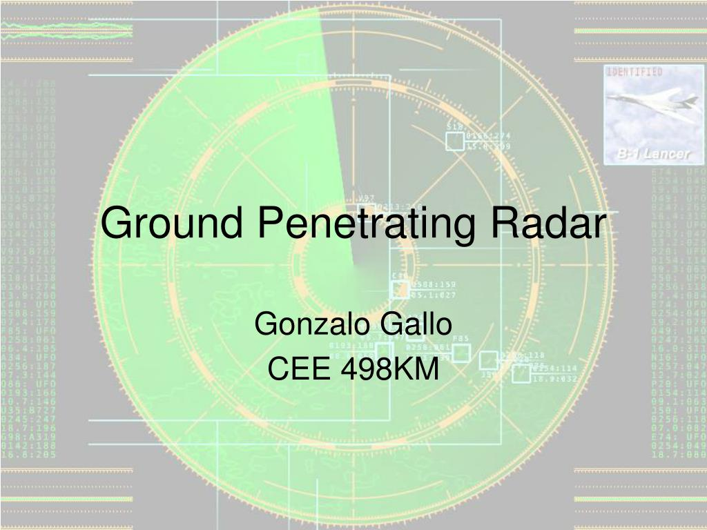 ground penetrating radar l.