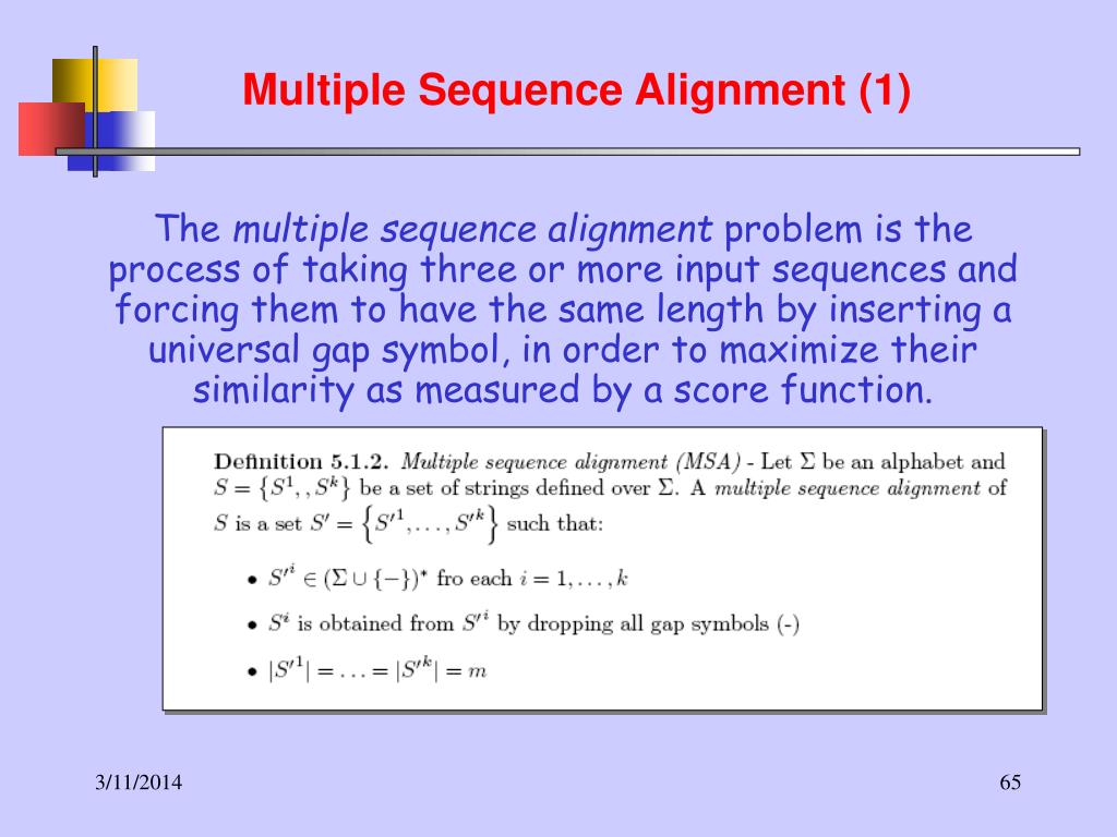 Multiple Sequence Alignment (1)
